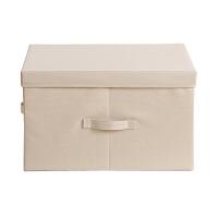 收纳箱有盖布艺收纳盒衣柜整理箱衣服储物箱子牛津布家用折叠