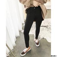 黑色铅笔裤不厚不薄弹力 打底裤女外穿秋冬新款 黑色(第二批) X