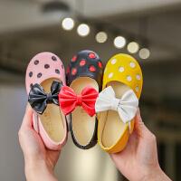 儿童鞋女童皮鞋公主鞋鞋子小宝宝软底女童单鞋蝴蝶结