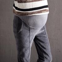 孕妇裤子秋季外穿长裤灯芯绒秋装打底裤加绒加厚托腹秋冬