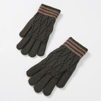 男士手套冬季保暖触屏五指款大手机手套男冬保暖学生韩版