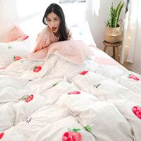 床上四件套全棉纯棉ins公主风网红被套1.2床单人学生宿舍4三件套3