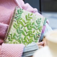 2019记事本手帐本小清新活页套装PVC透明活页夹手账本外壳创意