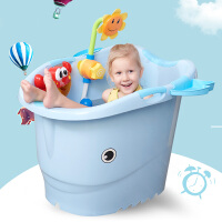 婴儿浴盆宝宝洗澡盆加厚可坐沐浴桶泡澡桶儿童洗澡桶
