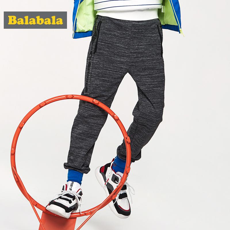 【满200减120】巴拉巴拉童装儿童裤子男童长裤2019新款春季中大童休闲裤男运动裤