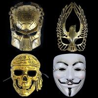 孩派 鬼步舞节日派对万圣节面具道具恐怖单片 骷髅 尖叫 爵士面具