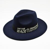 新款毛呢英伦小礼帽 女 韩版潮贵妇礼帽毡帽圆顶时装