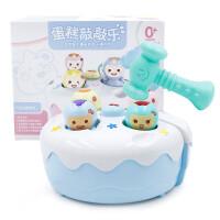 贝贝鸭儿童打地鼠玩具幼儿益智大号宝宝音乐敲击游戏机蛋糕敲敲乐
