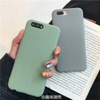 抹茶绿色oppor11s纯色手机壳r9s/r11/plus磨砂软壳r15/r17男女r9 r9s 纯色tpu 抹茶绿