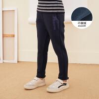 【超品日 2.5折价:92.25元】马拉丁童装女大童裤子冬装新款保暖不倒绒针织裤儿童裤子