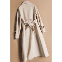 新年特惠新款反季过膝双面绒大衣女中长款高端韩版风衣毛呢外套无