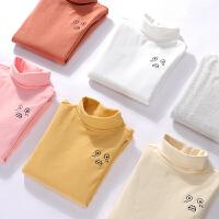 女童宝宝长袖棉T恤高领打底衫儿童上衣秋装长袖春秋打底衫