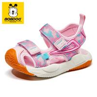 巴布豆bobdoghouse童鞋包头宝宝凉鞋2021新款夏季女童鞋沙滩鞋子-樱花粉