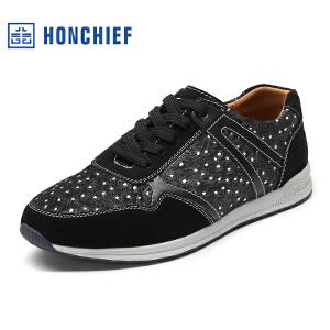 红蜻蜓旗下品牌  HONCHIEF  男鞋休闲鞋秋冬鞋子男板鞋KYA1034