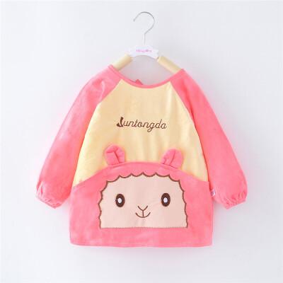 儿童罩衣宝宝女孩长袖围裙反穿衣男童婴儿护衣秋冬