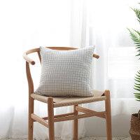 纯棉抱枕靠垫纯色抱枕套不含芯简约全棉正方形沙发宿舍靠枕水洗棉