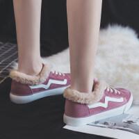 201902200152542712018冬季新款加绒帆布鞋二棉鞋韩版百搭学生ins超火毛毛女鞋秋季
