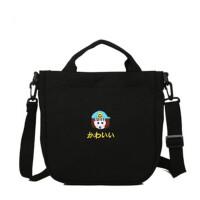 茉蒂菲莉 帆布包 原宿日系软妹少女布包可爱小包包斜挎包单肩手提袋学生小挎包