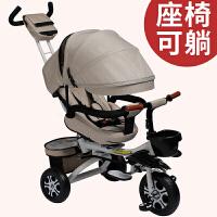 折叠可躺三轮车脚踏车1-3-6岁婴儿手推车宝宝轻便自行车