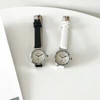 皮带小表盘手表 女中学生韩版简约小巧手细带 气质精致时尚潮流防水