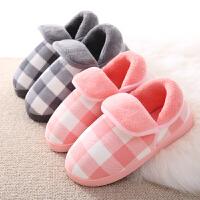 棉拖鞋女全包跟冬季保暖加厚防滑毛毛棉鞋韩版情侣室内月子棉拖鞋
