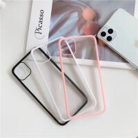 ins超火简约超薄iphone11promax苹果x手机壳xs透明软壳8plus个性情侣7plus彩色边框6splus