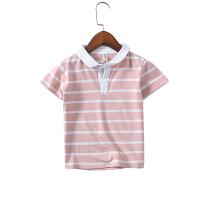 男童翻领polo衫短袖中大童宝宝薄款儿童条纹T恤