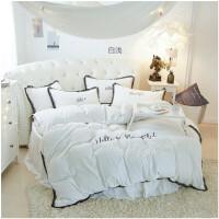 冬季圆床四件套珊瑚绒加厚短毛绒水晶绒床笠床罩圆形床单2米4件套k 白色 白浅圆床裙四件套