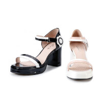 【秋冬新款 限时1折起】爱旅儿高跟鞋商场同款露趾凉鞋EM68203
