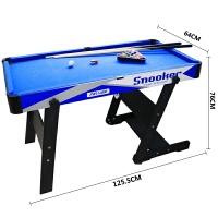 儿童台球桌标准美式家用大号折叠木制黑8桌球台娱乐运动休闲玩具 蓝色 1126蓝色折叠款