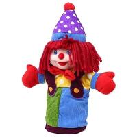 手偶娃娃37cm小丑公仔幼儿宝宝大号安抚手套玩偶 花色