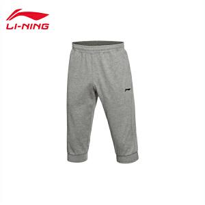 李宁七分卫裤男士训练系列吸汗舒适针织短装夏季运动裤AKQL029