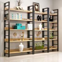 隔断书架置物架实木屏风落地展示书柜现代层架 搁板置物架层架落地墙壁架铁艺