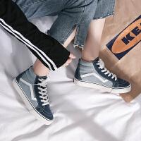 高帮帆布鞋女韩版ulzzang潮ins板鞋学生原宿街拍百搭chic韩风鞋子