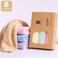 宝宝婴儿洗脸巾3条装30*50婴儿用品礼盒婴儿毛巾口水巾