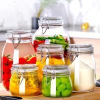 密封罐玻璃瓶子带盖蜂蜜柠檬泡菜腌菜咸菜坛子缸食品储物罐泡酒瓶