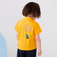 【秒杀价:108元】马拉丁童装男小童T恤2020夏装新款印花帅气POLO领短袖