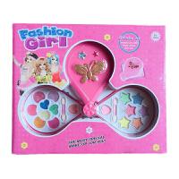 玩具女孩儿童化妆品芭比娃娃套装公主彩妆盒学生表演口红眼影