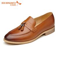 红蜻蜓男鞋休闲皮鞋秋冬休闲鞋子男WZA6184