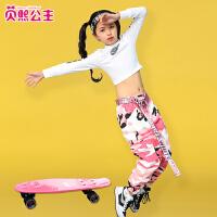 女童演出服嘻哈韩版女孩街舞舞蹈表演服新款儿童爵士舞服装
