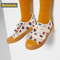 巴拉巴拉儿童帆布鞋男童鞋宝宝鞋子女新款春秋时尚儿童布鞋潮