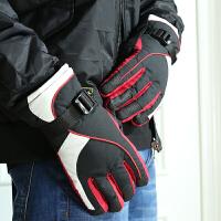 滑雪手套防滑男冬季户外运动登山骑行防风防水防雨加绒保暖棉手套