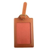 定制 行李牌定制 LOGO 创意吊牌 胸牌 皮质登记牌 旅游用品托运牌