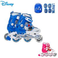 儿童轮滑鞋护具套装 男女童闪光溜旱冰鞋