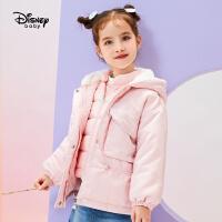 【春新品4折�A估�r:233.6元】迪士尼女童一手�L羽�q服�杉�套2020秋冬新款�和������r尚洋�馔馓�