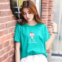 新品韩版宽松夏装绣花短袖T恤女装棉半袖上衣小衫潮棉