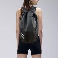 户外旅行背包登山包运动休闲双肩包女健身包男便携抽绳袋游泳 黑色 20升以下