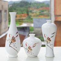 黑白简约家居装饰品摆件花瓶三件套陶瓷茶关摆设礼
