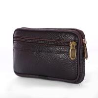 皮手机包男士腰带上的钥匙钱包中老年穿皮带横款休闲跑步腰包