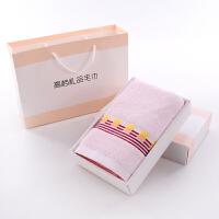 棉毛巾礼盒单条装结婚伴手礼满月生日礼品寿宴回礼绣字定制logok 73x33cm